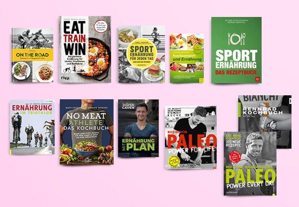 Die 11 besten Kochbücher für Radfahrer und Ausdauersportler.