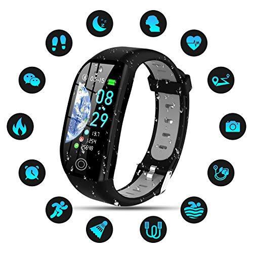 für Damen Armband mit Pulsmesser Fitness Tracker Schrittzähler SmartWatch