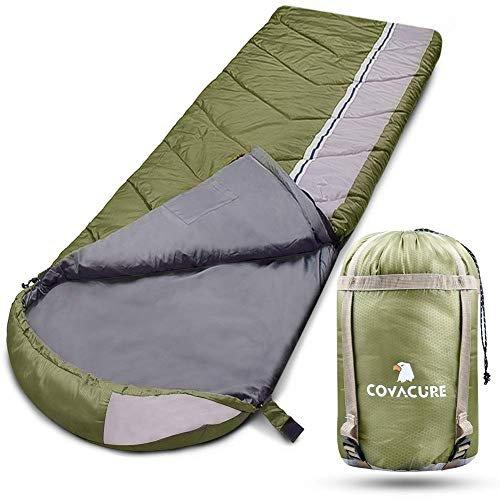 COVACURE Schlafsack Deckenschlafsack - Leicht, Kompakt, Wasserdicht, Warm für Sommer Drinnen & Drauße, 210 x 78 cm für Erwachsene & Kinder