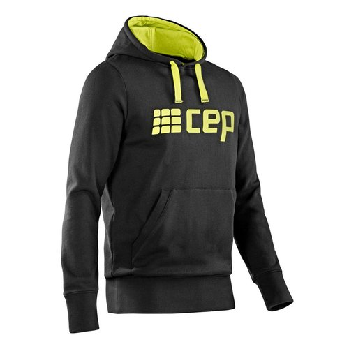 CEP Brand Collection Hoody Men black / lime green L