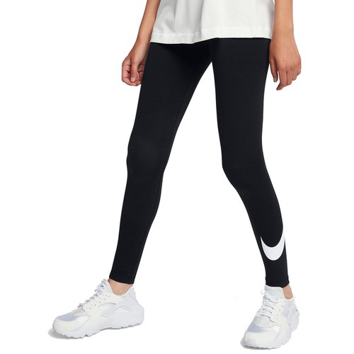 Nike Leggings Club Logo2 Damen schwarz-weiss XS