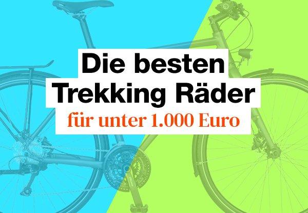 Die besten Trekkingräder für 1000 Euro.