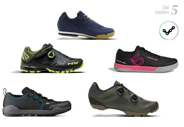 Die 5 besten MTB Schuhe für jeden Anspruch.