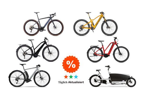 E-Bike stark reduziert. Die größten Rabatte und aktuelle Angebote aus vielen Online-Shops.