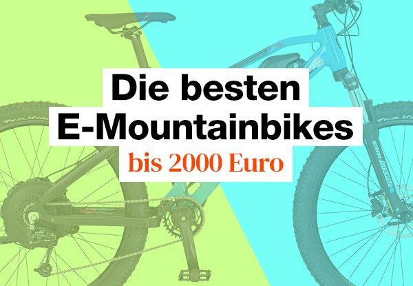 E-Mountainbike Test bis 2000 Euro. Die besten Einsteigermodelle die du 2021 kaufen kannst.