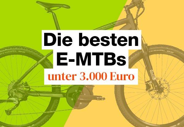 Der große E-Mountainbike Test bis 3000 Euro.