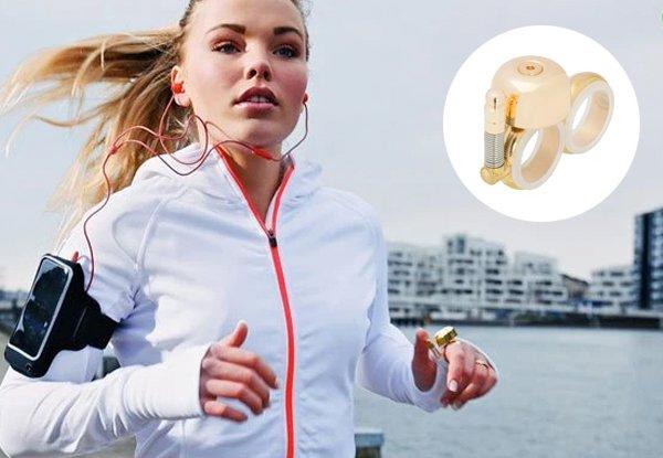 Run Bell – eine stylische Handklingel für urbane Läufer, Radler und Skater.