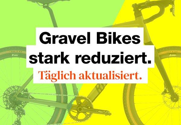 Gravel Bike Sale. Die Gravel Bikes mit dem höchsten Rabatt.