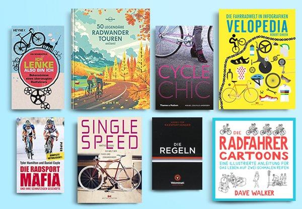 Fahrrad Bücher. Die 8 besten und inspirierendsten Lesetipps für Radfahrende.
